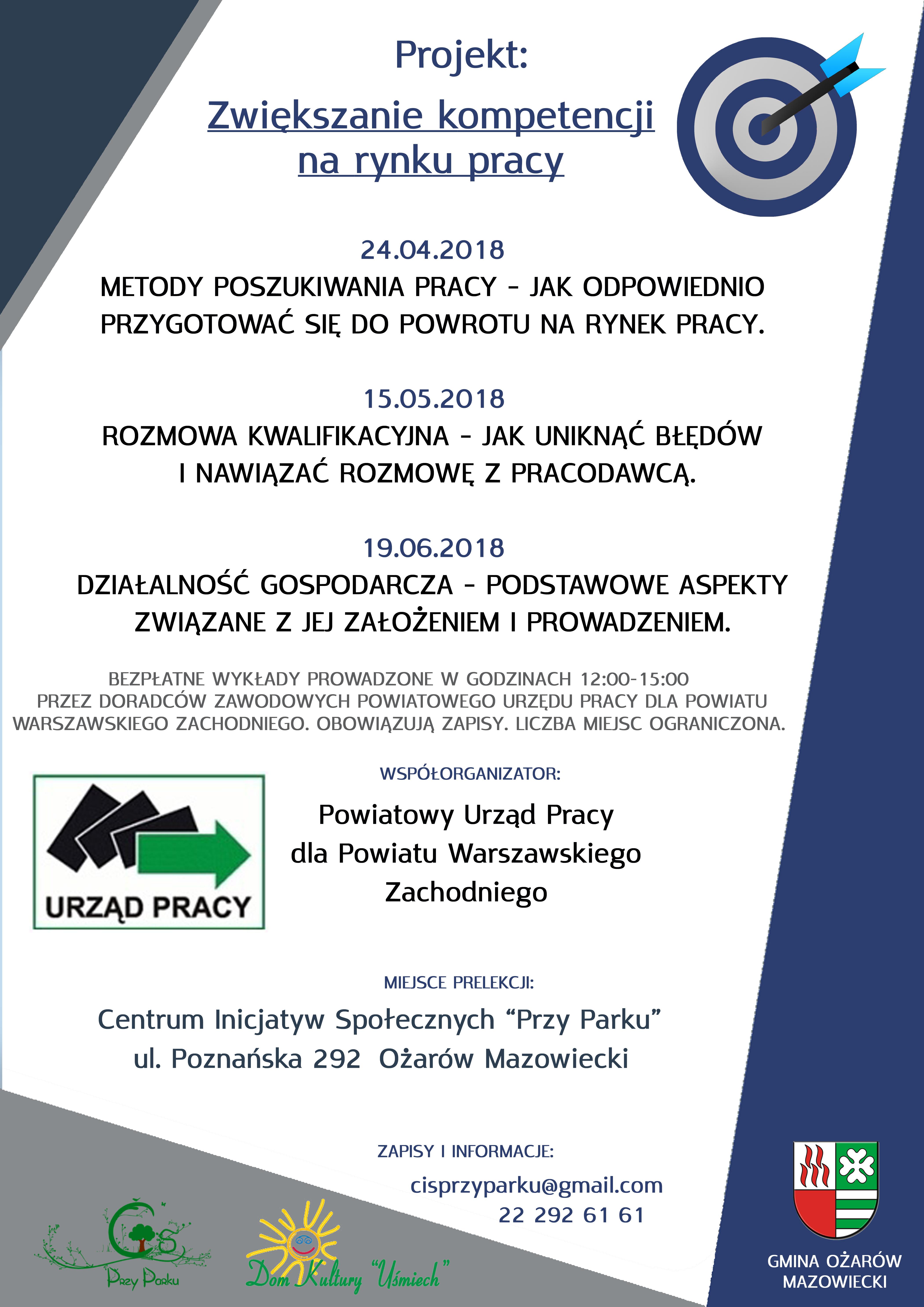 Informacje Powiatowy Urząd Pracy Dla Powiatu Warszawskiego Zachodniego